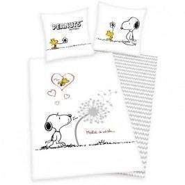Herding Dětské bavlněné povlečení Snoopy Přání, 140 x 200 cm, 70 x 90 cm