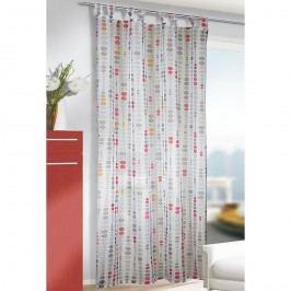 Záclona s poutky John růžová, 135 x 245 cm