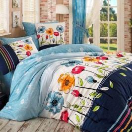 BedTex Bavlněné povlečení Amanda modrá, 140 x 220 cm, 70 x 90 cm, 140 x 220 cm, 70 x 90 cm