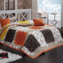 Bedtex přehoz Sedef Oranžový 220x240 + 2x 40x40 cm