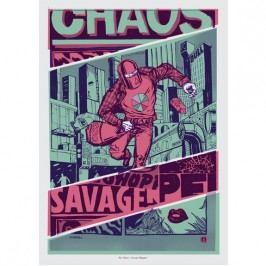 Funk Fu Plakát Savage Shopper 50 x 70 cm, digitální tisk