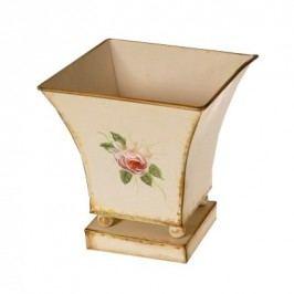 Květináč kovový Loira, 18 cm, HTH