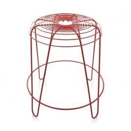 Alessi Stolička A Tempo 45 cm, červená