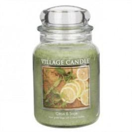 Village Candle Vonná svíčka ve skle, Citrusy a šalvěj - Citrus & Sage, 645 g, 645 g