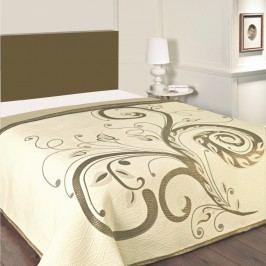 Přehoz na postel Dominic béžový, 140 x 220 cm