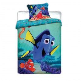 Jerry Fabrics Dětské povlečení Dory a Nemo, 140 x 200 cm, 70 x 90 cm