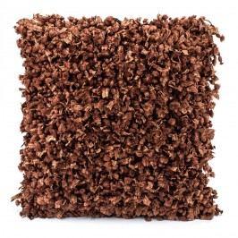 BO-MA Trading Povlak na polštářek Shaggy hnědá, 45 x 45 cm