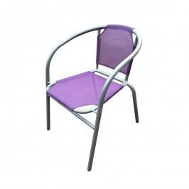 Ocelové křesílko textilen - fialové