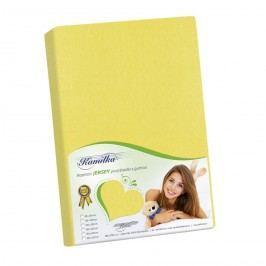 Bellatex Jersey prostěradlo Kamilka žlutá, 200 x 220 cm