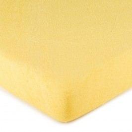 froté prostěradlo žlutá, 160 x 200 cm