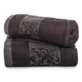 Jahu dárková sada ručníků bambus Ankara tmavě hnědá