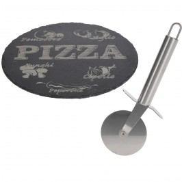 Podložka pod pizzu a kráječ