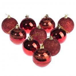 HTH Vánoční koule 10 ks červená pr. 6 cm