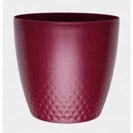 Plastový květináč Perla 16 cm, vínová, Plastia, pr.16 cm