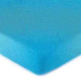 jersey prostěradlo tmavě modrá, 160 x 200 cm