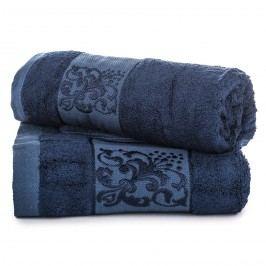 Jahu dárková sada ručníků bambus Ankara tmavě modrá
