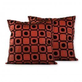 Jahu Polštářek Basic kostka červená 1 + 1 zdarma, 40 x 40 cm