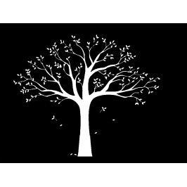 Samolepicí dekorace XXL bílý rodinný strom