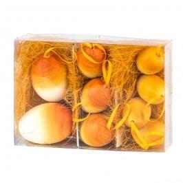 Velikonoční vajíčka 9 ks, oranžová, HTH