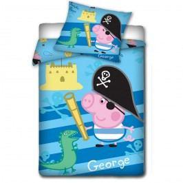 TipTrade dětské povlečení Peppa Pig - George pirát, 140 x 200 cm, 70 x 80 cm