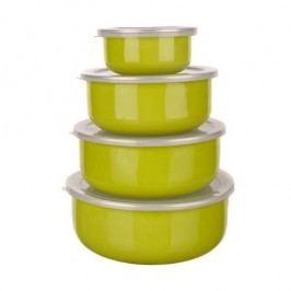 8dílná smaltovaná sada misek Belly, zelená