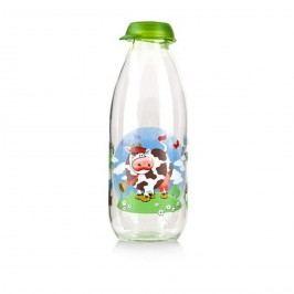 BANQUET Láhev na mléko Funny Cow, zelená, 1 L