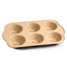 Forma na muffiny, hnědá, 28,6 x 17,8 x 3,4 cm