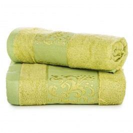 Jahu dárková sada ručníků bambus Ankara zelená