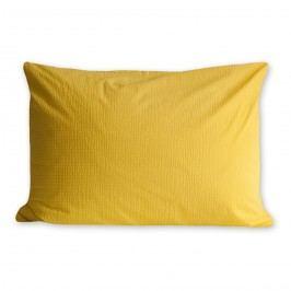 povlak na polštářek bavlna krep žlutá, 50 x 70 cm