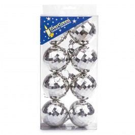 HTH Vánoční koule 8 ks stříbrná