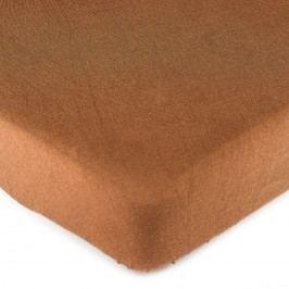 jersey prostěradlo hnědá, 90 x 200 cm