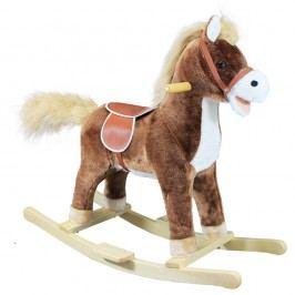 Bino Houpací kůň plyš, střední, hnědý