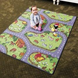 Vopi Dětský koberec Farma, 80 x 120 cm