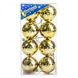 HTH Vánoční koule 8 ks zlatá