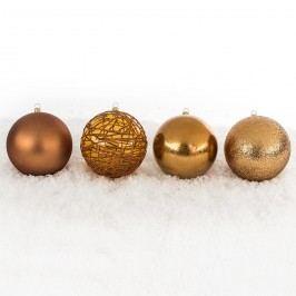 Vánoční koule mix pr. 10 cm, měděná, HTH