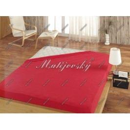 Matějovský prostěradlo froté červená, 160 x 200 cm