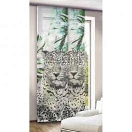 závěsový panel Leo zelenočerný, 245 x 60 cm