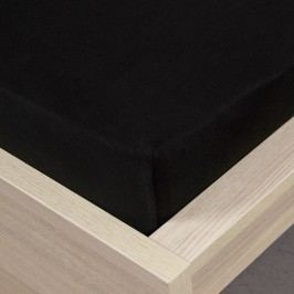 jersey prostěradlo černá, 90 x 200 cm