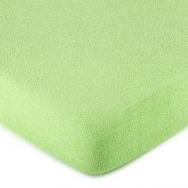 froté prostěradlo zelená, 160 x 200 cm