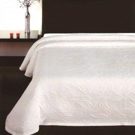 Přehoz na postel Floral bílá, 140 x 220 cm