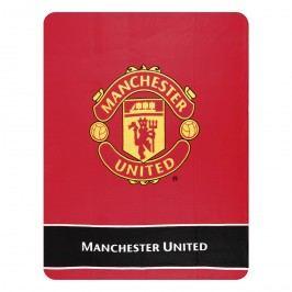 Tip Trade Fleecová deka Manchester United Erb, 130 x 170 cm