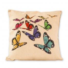 Jahu Povlak na polštářek Režný motýli, 45 x 45 cm