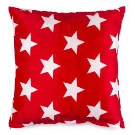JAHU Polštářek mikroplyš Stars červená, 40 x 40 cm