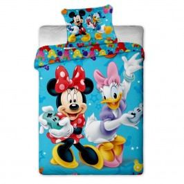 Jerry Fabrics Dětské povlečení Mickey a Minnie games, 140 x 200 cm, 70 x 90 cm