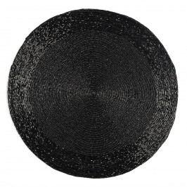 Koopman Prostírání z korálků Bead černá, 35 cm
