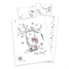 Herding Dětské bavlněné povlečení Hello Kitty, 100 x 135 cm, 40 x 60 cm