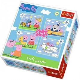 Puzzle Trefl 4v1 Prasátko Pepina 35 48 54 70 dílků