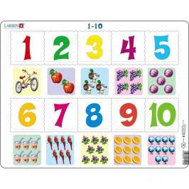 Larsen Puzzle Počítání pro nejmenší, 10 dílků