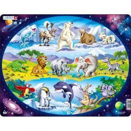 Larsen Puzzle Zvířata ve světě, 15 dílků