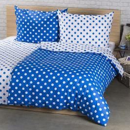 4Home Bavlněné povlečení Modrý puntík, 160 x 200 cm, 70 x 80 cm